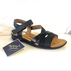 Natural Soul Naturalizer Black Sandals Comfort